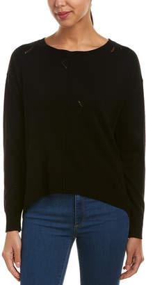 Michael Stars Distressed Wool-Blend Sweater