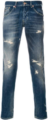 Dondup distressed fitted jeans
