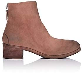 Marsèll Women's Back-Zip Suede Ankle Boots - Pink
