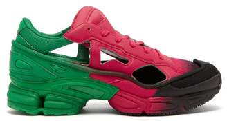 adidas Replicant Ozweego Mesh And Leather Trainers - Womens - Pink Multi
