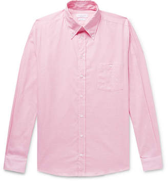 Richard James Button-Down Collar Cotton-Mesh Shirt