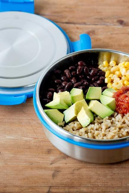 LunchBots Clicks 3-Cup Leak Proof Salad Food Container