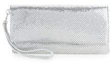 La Regale Mesh Metallic Folded Clutch