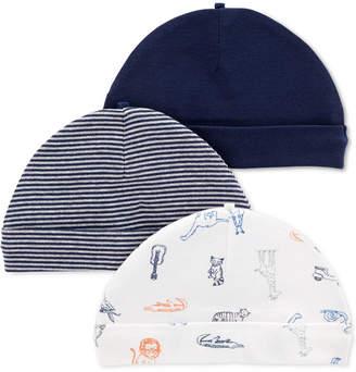 Carter's 3-Pk. Baby Boys Roll-Cuffed Caps