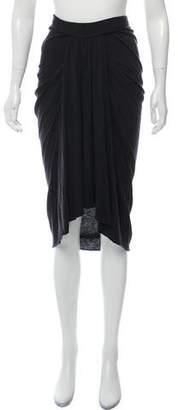 Rick Owens Lilies Knee-Length High-Low Skirt