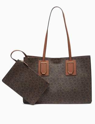 Calvin Klein monogram bag-in-bag tote