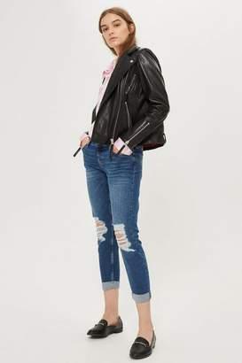 Topshop Petite Dark Rip Lucas Jeans