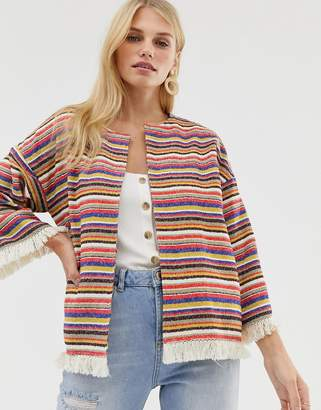 Pepe Jeans Clemence Stripe Poncho Jacket