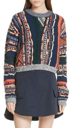 Carven Multistripe Sweater