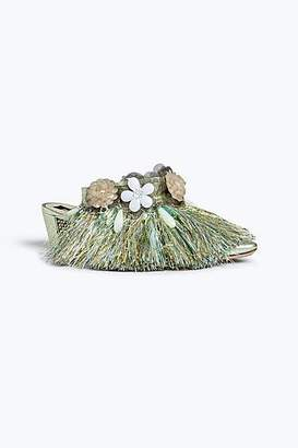 COLLECTION (RUNWAY) Tinsel Embellished Mule