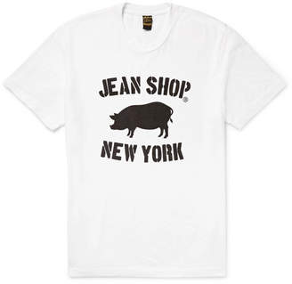 Jean Shop Printed Slub Cotton-Jersey T-Shirt