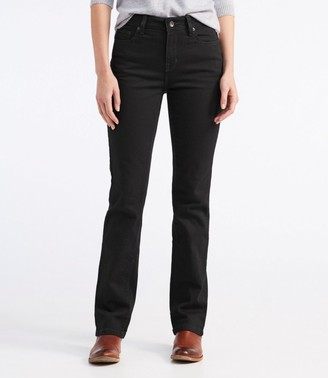 L.L. Bean L.L.Bean Women's True Shape Jeans, Straight-Leg