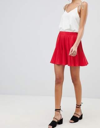 Asos Design DESIGN pleated mini skirt