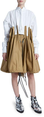 Sacai Two-Tone Poplin Canvas Dress