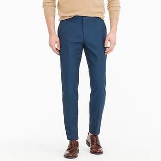 J.Crew Ludlow Slim-fit unstructured suit pant in blue cotton-linen