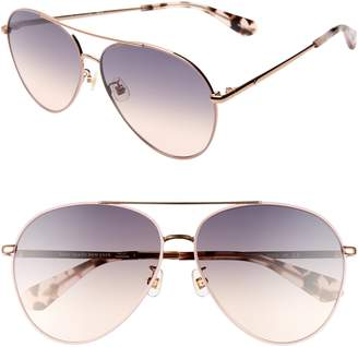 75246283bfd Kate Spade Carolane 61mm Special Fit Polarized Aviator Sunglasses