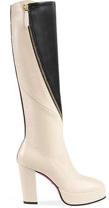 Gucci Women's Agon Leather Platform Knee Boots
