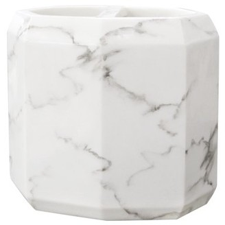 Allure Home Creation Marble Facet Toothbrush Holder