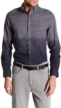 Kenneth Cole New York Long Sleeve Slim Fit Ombre Gingham Shirt
