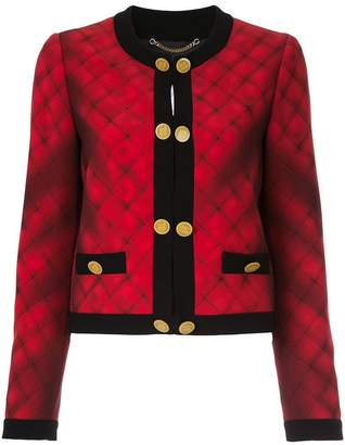 Moschino trompe l'oeil quilted bouclé jacket