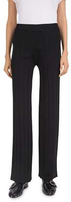 The Kooples Ribbed Zip-Pocket Fleece Sweatpants