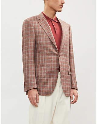 Canali Checked wool-silk blend blazer