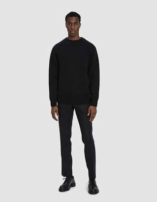 Dries Van Noten Wool Crewneck Sweater in Black