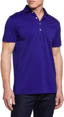 Ralph Lauren Men's Pique Pocket Polo Shirt, Royal