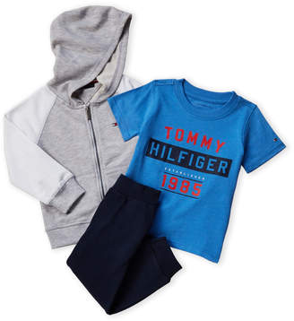 a0075f396 Tommy Hilfiger Toddler Boys) 3-Piece Zip-Up Hoodie & Joggers Set