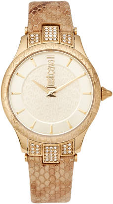 Just Cavalli JC1L004L0035 Animal Chantilly Gold-Tone Watch