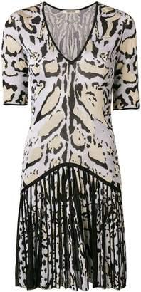 Roberto Cavalli animal pattern gathered dress