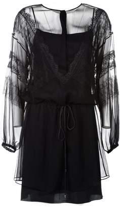 Alberta Ferretti Lace Detail Dress