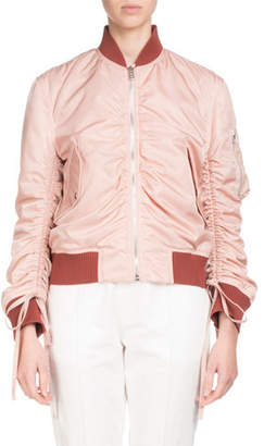 Kenzo Ruched Zip-Front Bomber Jacket