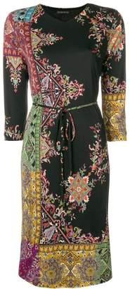 Etro paisley border midi dress