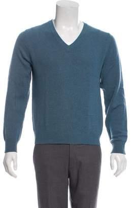 Dries Van Noten V-neck Wool Sweater aqua V-neck Wool Sweater