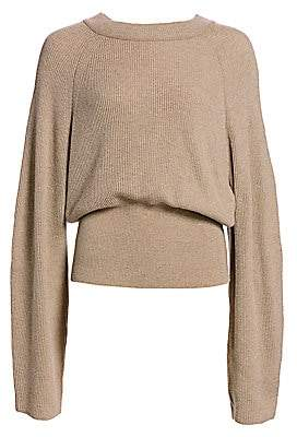 Nanushka Women's Arden Ribbed Knit Balloon Sweater