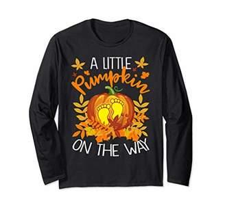 Little Pumpkin On Way Halloween Gift T-shirt Long Sleeve
