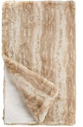 Donna Salyers' Fabulous Furs Donna Salyers Faux Fur Throw - Blonde Mink