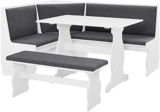 Linon Sasha Nook Dining Table 3-piece Set