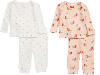 Boden Mini Cozy Pointelle 2-Pack Tee & Pants Set