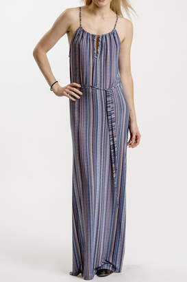 Veronica M Classic Stripe Maxi Dress