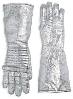 Calvin Klein Laminated Leather Gloves