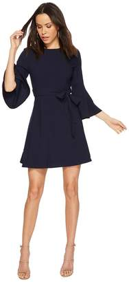 J.o.a. Open Back Flare Sleeve Dress with Cut Out Back Women's Dress