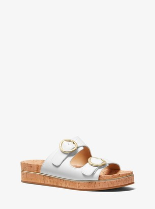 MICHAEL Michael Kors Estelle Leather and Cork Sandal