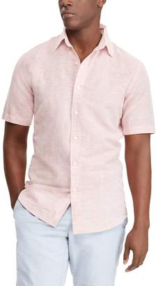 Chaps Big & Tall Classic-Fit Linen-Blend Button-Down Shirt