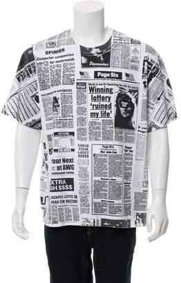 Alexander Wang Page Six Newspaper T-Shirt