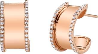 Shay Jewelry Nameplate Huggies Earrings