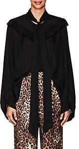 Nili Lotan Women's Vanna Silk Georgette Blouse - Black