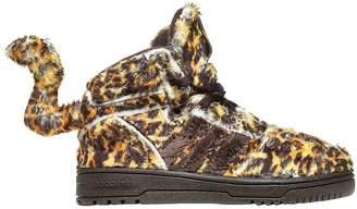 Leopard Printed Plush Sneakers