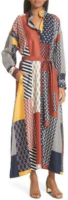 Tory Burch Bianca Patchwork Maxi Dress